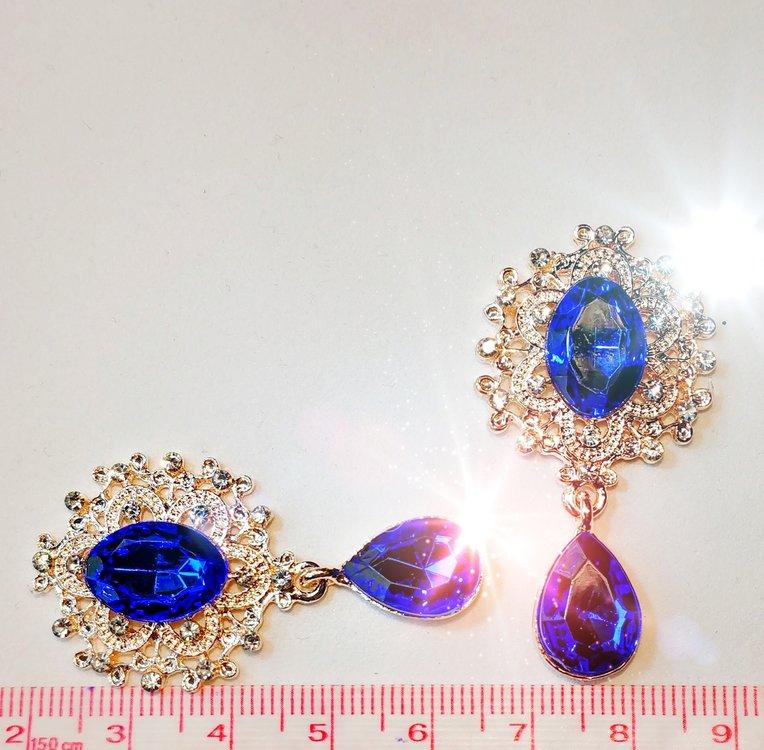 Strass Resin Diamond Ornament Hanger Royal Blue