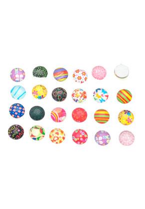 Cabochons Mix Multi Color 10mm