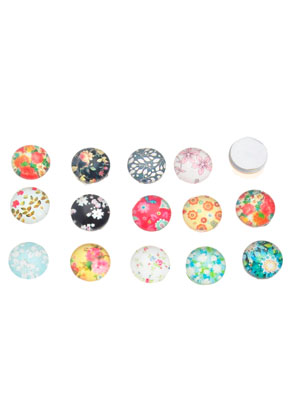 Cabochon Mix Multicolor rond 10mm