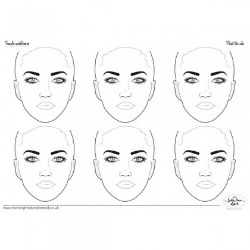 Practice Board - Frontal Faces A2