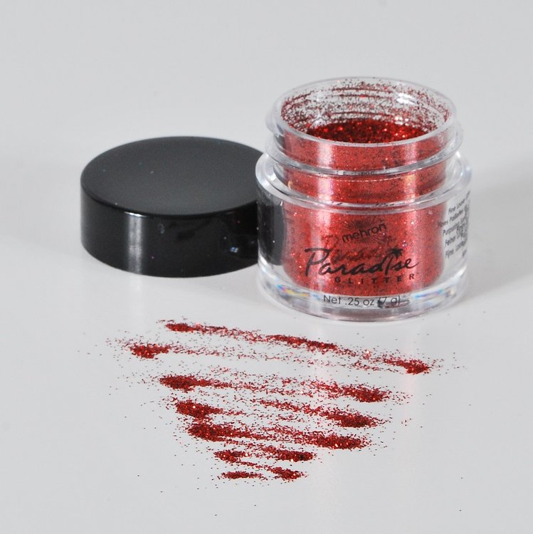 Mehron Paradise Glitter Red