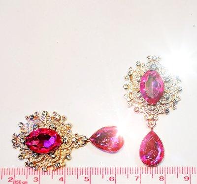 Strass Resin Diamond Ornament Hanger Pink