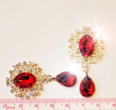Strass Resin Diamond Ornament Hanger Fire Red