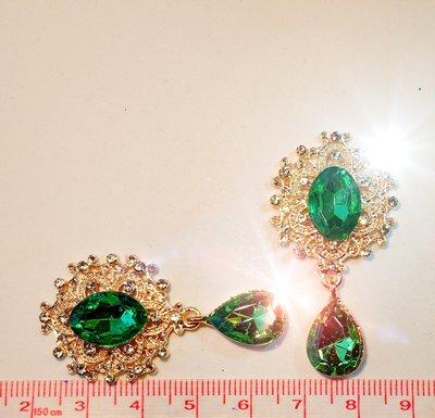 Strass Resin Diamond Ornament Hanger Emerald Green