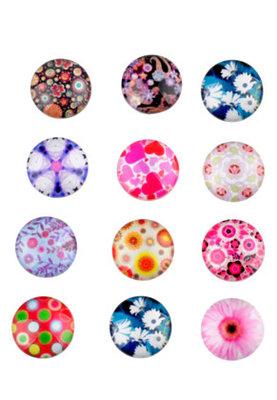 Cabochon Mix Multi Color 14mm