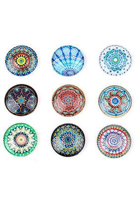 Cabochon Multi Color Mandala 16mm