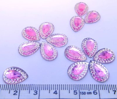 Strass Resin diamand light pink