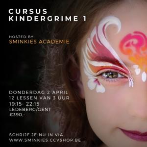 cursus kindergrime 26 maart 2019 Ledeberg Sminkies Events
